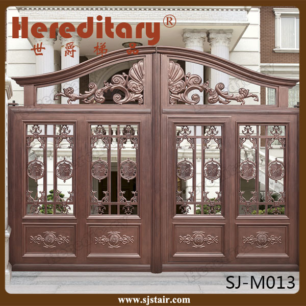 Indian House Decorative Automatic Sliding Aluminum Entrance Gate