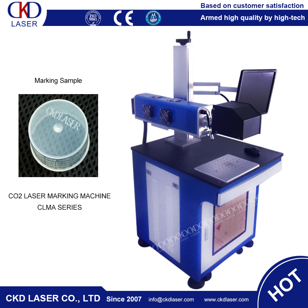 CKD Laser Hot Sale 50W CO2 Laser Marking Machine for Nonmetal Engraving