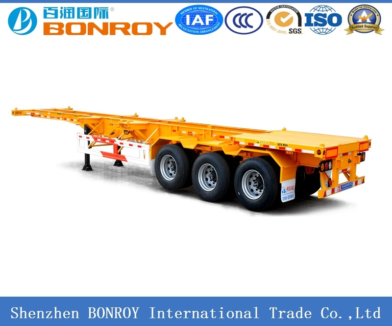 40FT 3axle Skeletal Container Semi-Trailer