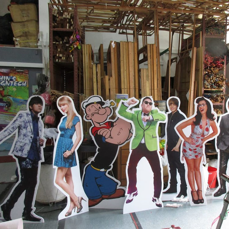 Character Life Size Cardboard Cutout Standee Stand up Cutout Decoration