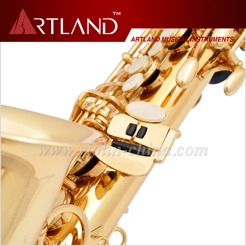 Eb Key Golden Lacquer Finish Alto Saxophone (AAS4506)