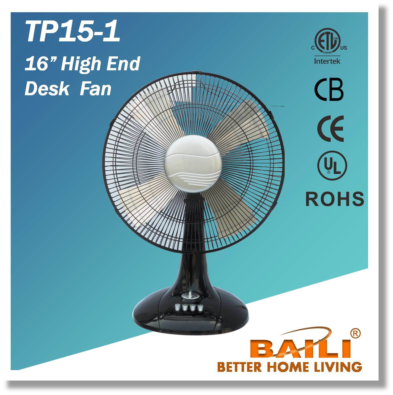 "16"" High End Desk Fan with One Hour Timer"