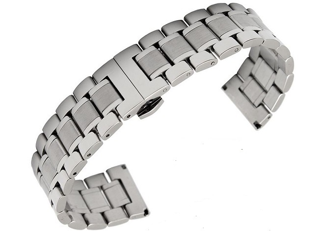 Hot Sale Classic Solid Stainless Steel Men′s Watch Band 5 Beads Fold Clasp Different Colors Watch Strap for Longines Link Bracelet