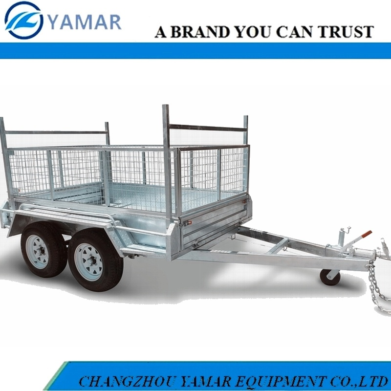 Double Axle Box Trailer with Cage