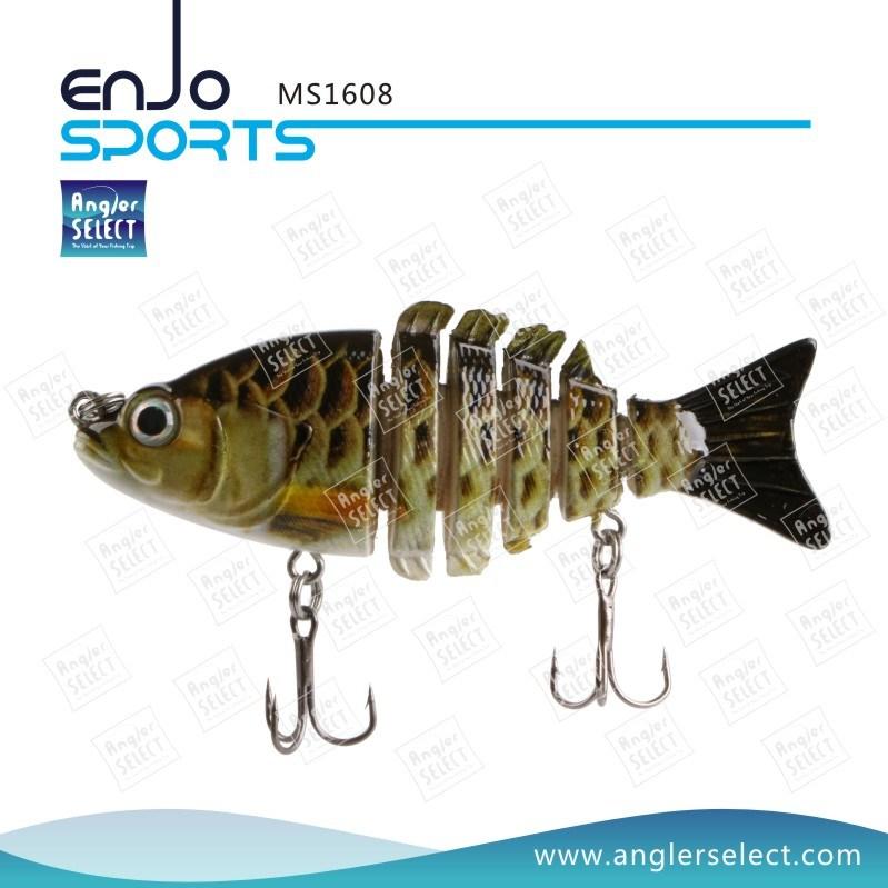 Multi Jointed Fishing Life-Like Minnow Lure Bass Bait Swimbait Shallow Artificial Fishing Tackle Fishing Bait (MS1608)