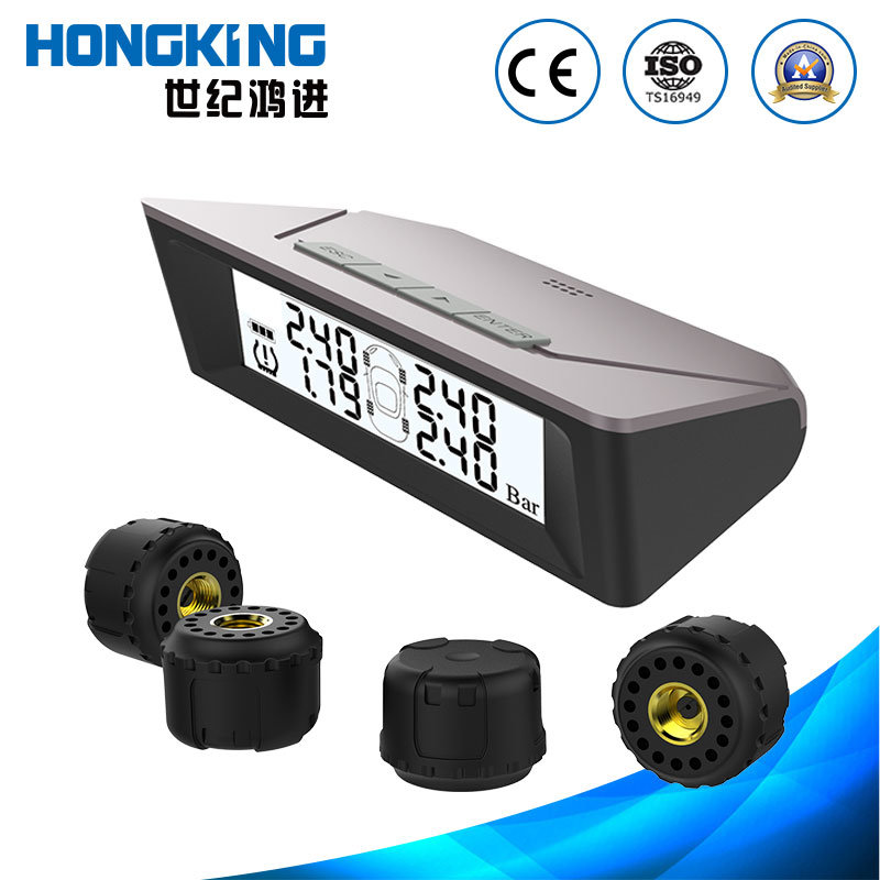 Built-in AA Battery TPMS System with Wireless External Sensor for off-Road Vehicles, Cars, Vans, and Other Four-Wheel Small and Medium Size Vehicles