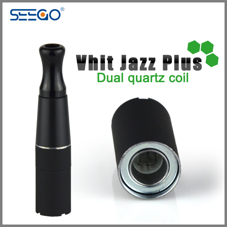 Seego Patented Wax Atomizer Skillet Vaporizer Ecig with Dual Quartz Coil and DAB Tool