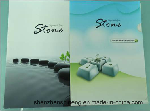 Environmental Friendly Stone Paper (RBD-300um) Rich Mineral Board Double Coated