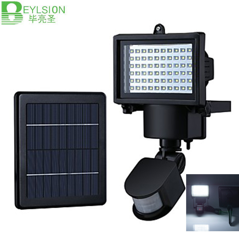 6W Solar LED Flood Lights PIR Motion Sensor