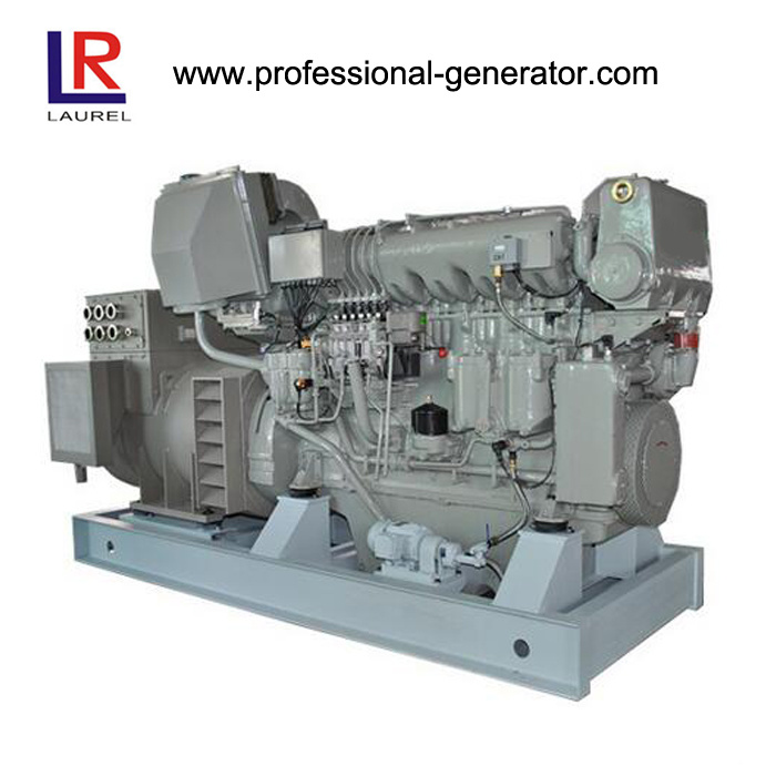 650kw 6 Cylinders Radiator Cooled Diesel Marine Genset