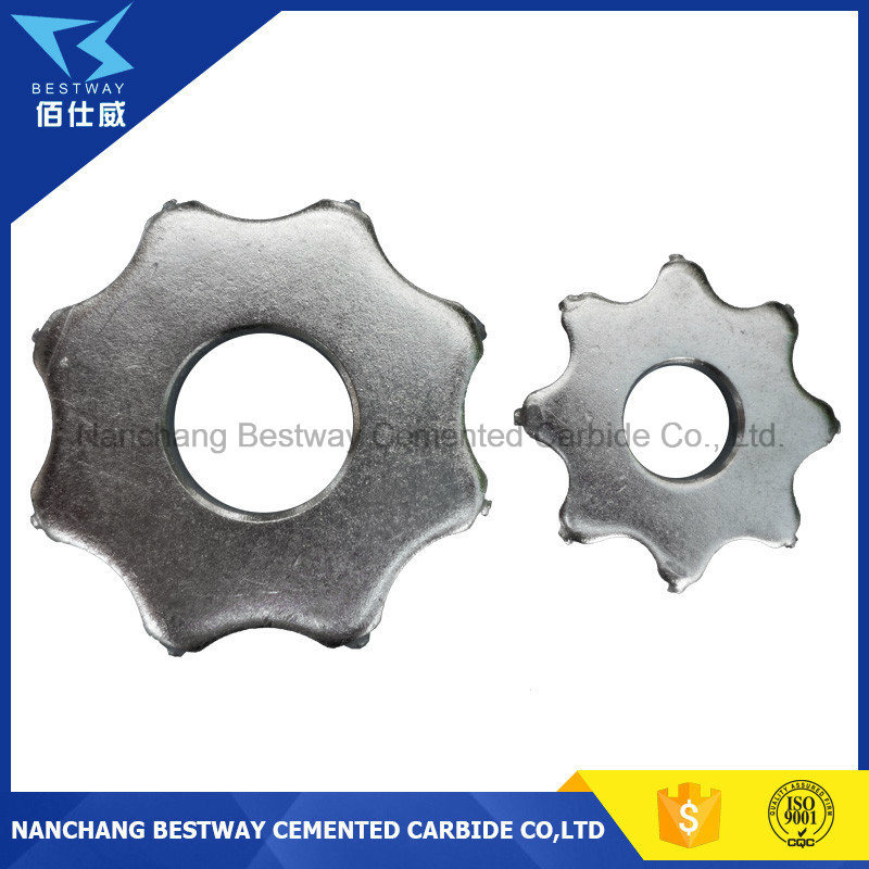 6PT Floor Scarifier Carbide Cutter for Concrete Scarifier