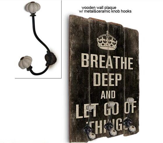 40*60cm Wall Plaques & Wooden Plaque with Hook & Hooks