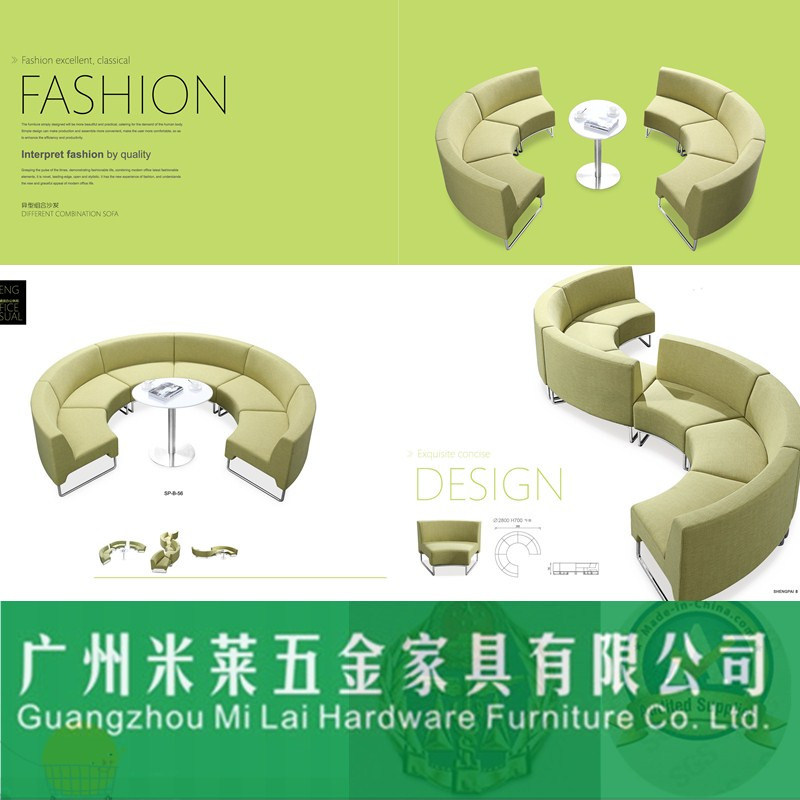 Modern Different Combination Sofa with Iron Frames for Office Furniture