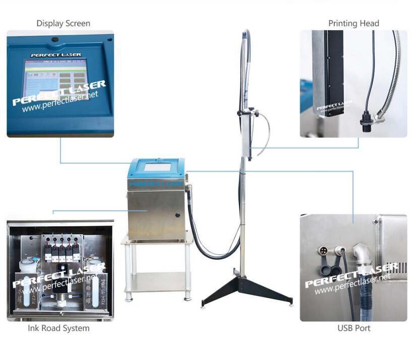 High Speed Inkjet System Varible Data Inkjet Printer Machine for Lot Numbering