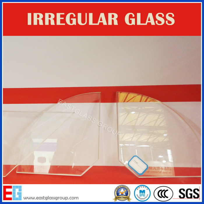 Water Cut Perforated Irregular Shaped Tempered Glass for Architectural/Car/Electronic