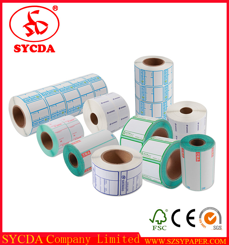 Thermal Adhesive Label Thermal Paper Sticker Made in China