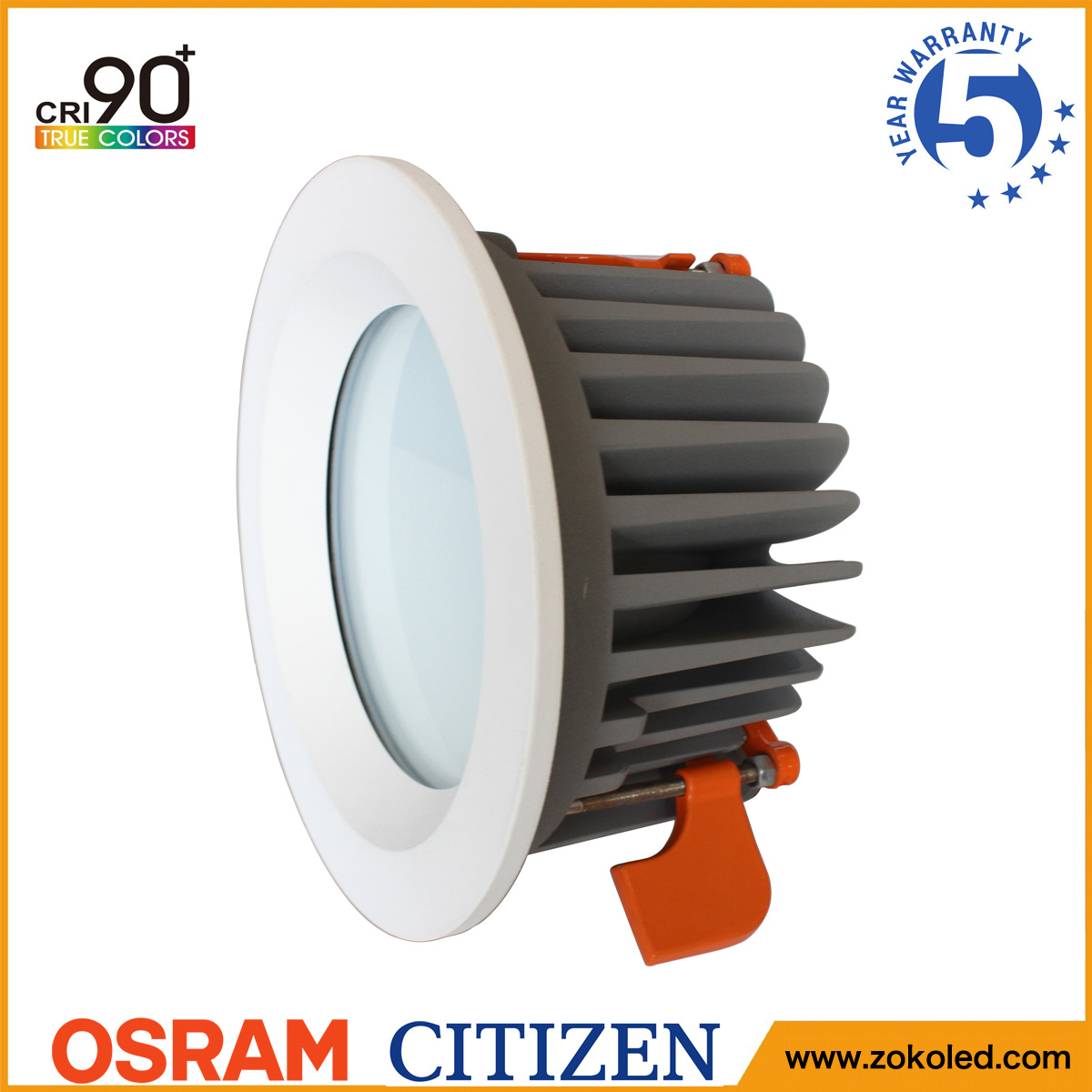 Energy Saving 60W Osram COB LED Down Light Indoor Lighting with 5 Years Warranty