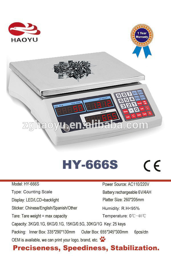 Electronic Digital Acs Weighing Counting Scale High Precision Load Cell