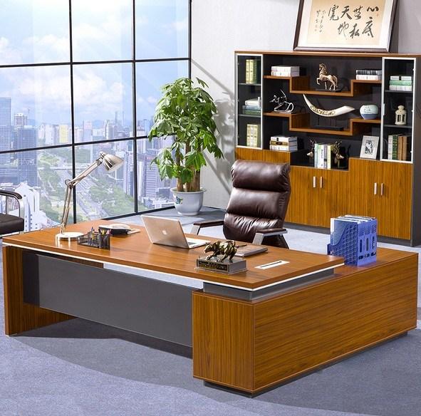 Dark Gry Modesty Panel Oak Desk Top Office Table (HX-NCD193)