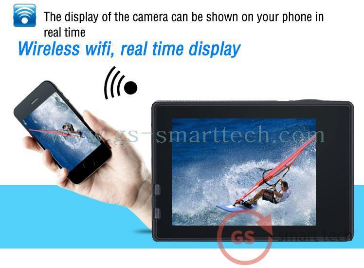 Waterproof Ultra HD 4k Dual Screen 2.0′ Ltps LCD WiFi Sport DV Action Camera
