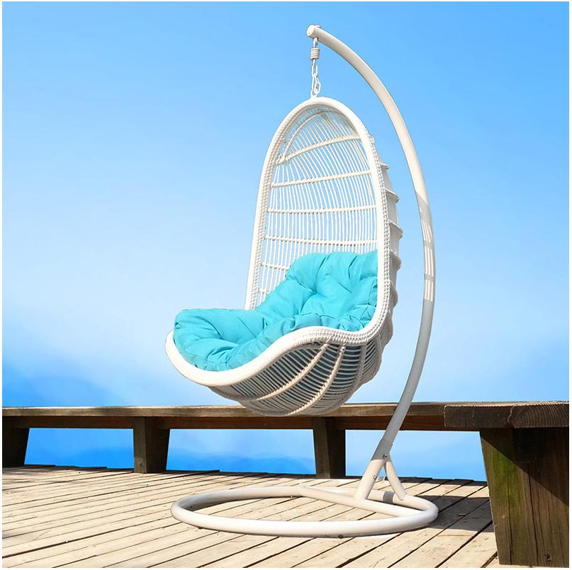 Modern Leisure Wicker Furniture Hanging Chair with Round Rattan (J807)