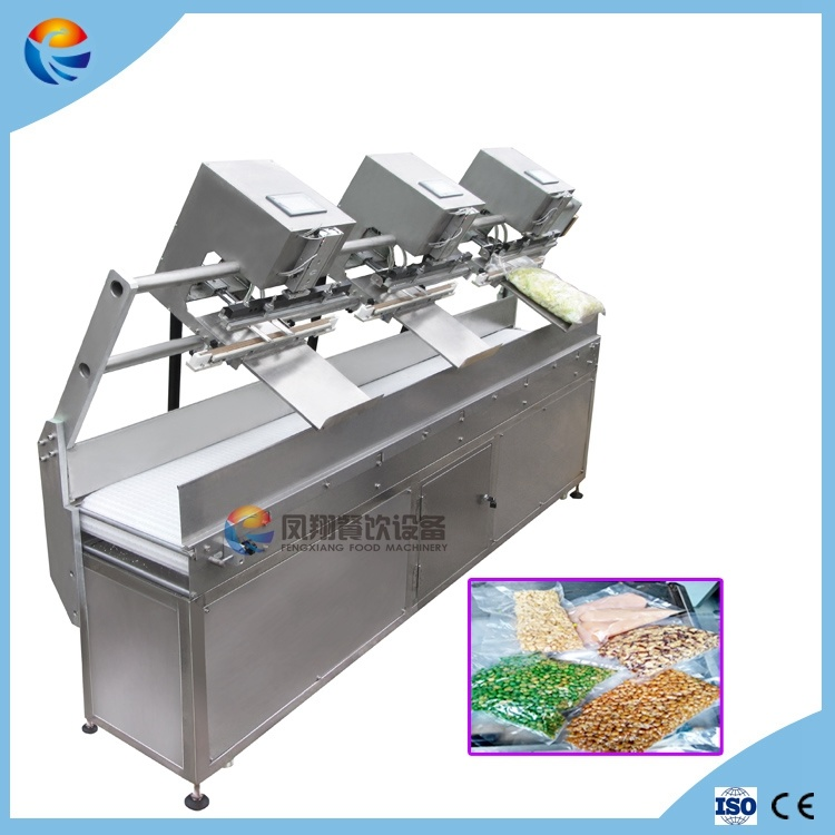 Automatic Gas Flushing Food Vegetable Fruit Snacks Meat Vacuum Sealing Sealer Machine