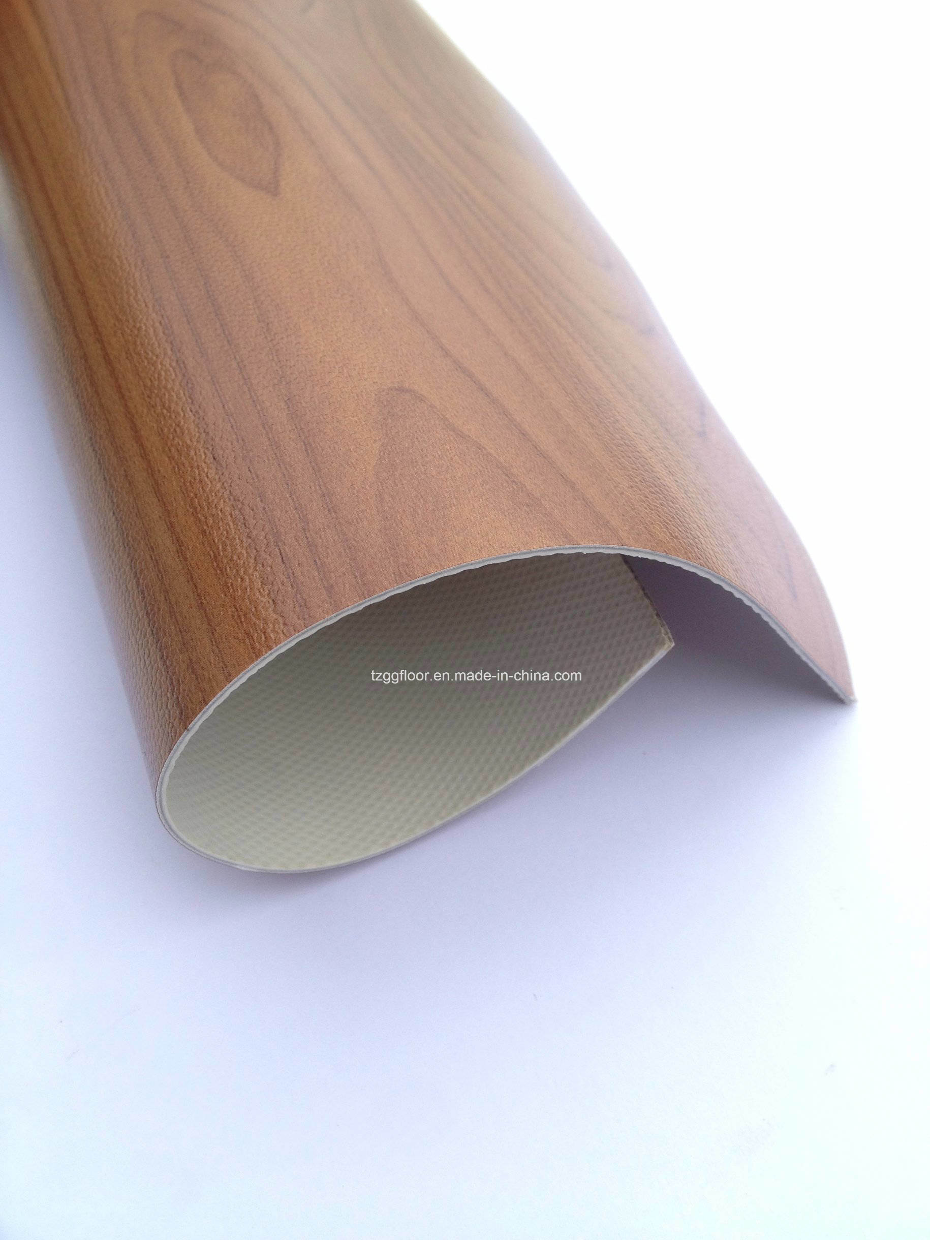 Factory Wooden Grain Plastic Laminate Flooring for House Decoration