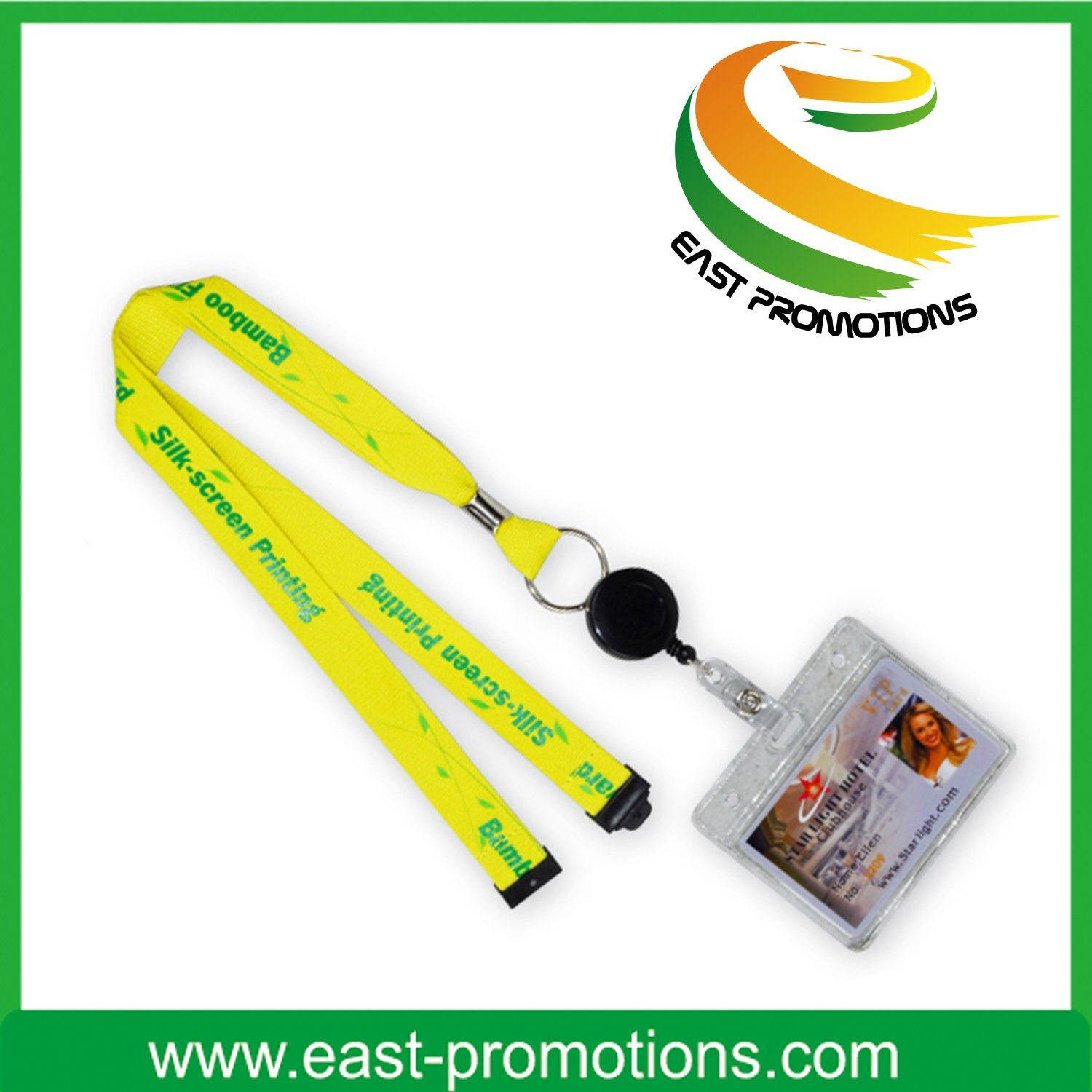 Retractable Polyester Custom Lanyards with ID Card/Badge Holder