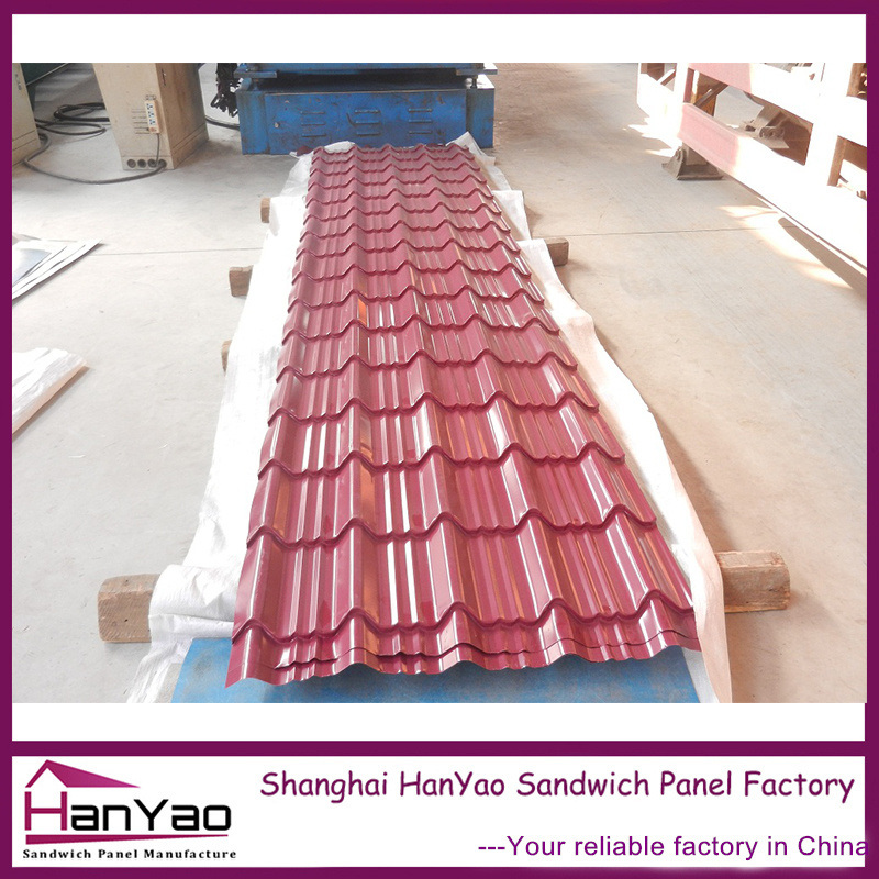 China Corrugated Wave Type Metal Roofing Color Steel Roof Tiles
