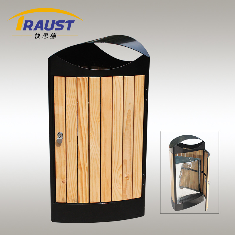 2015 New Product Outdoor Wooden Receptacle Bin