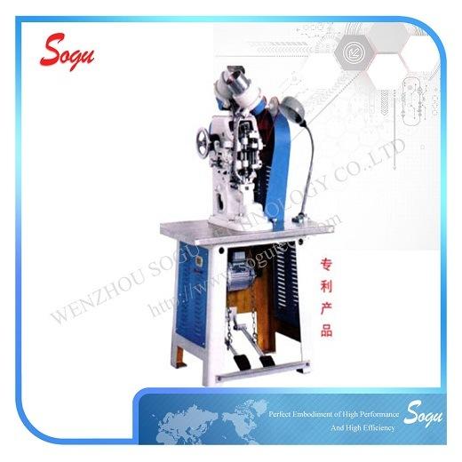 Neat, Beautiful and Ametabolic Automatic Double-Side Eyeleting Machine