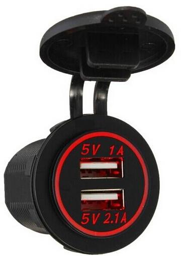 12V Car Cigarette Lighter Socket Splitter Dual USB Car Charger Power Adapter