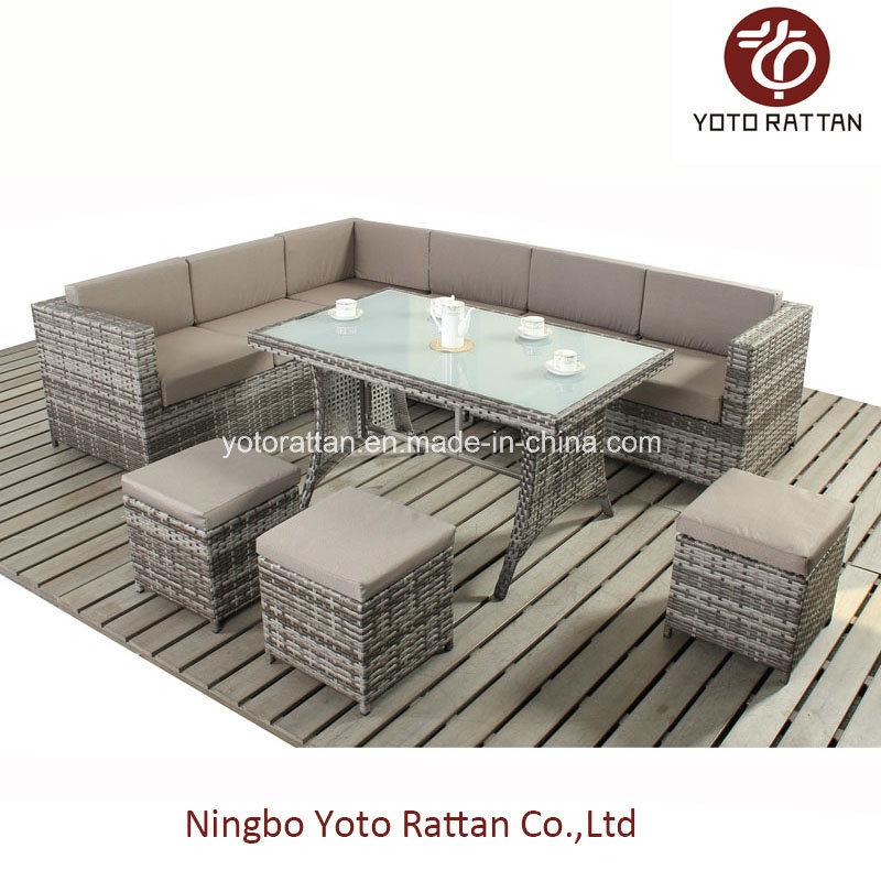 Steel Table Corner Sofa Set 903 Coffee