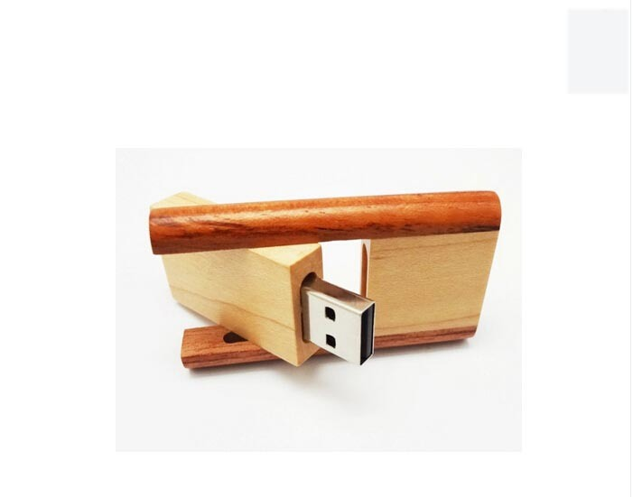 Promotion Gift 8GB Swivel Twister Wooden USB Flash Memory with Certificated