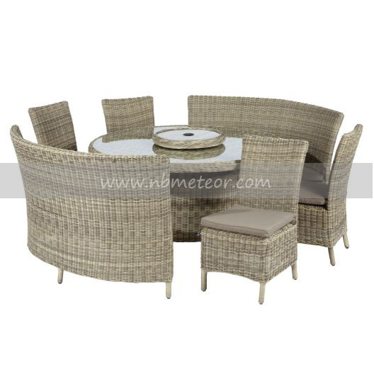 Mtc-020 Plastic Outdoor Rattan Furniture Round Table Chair