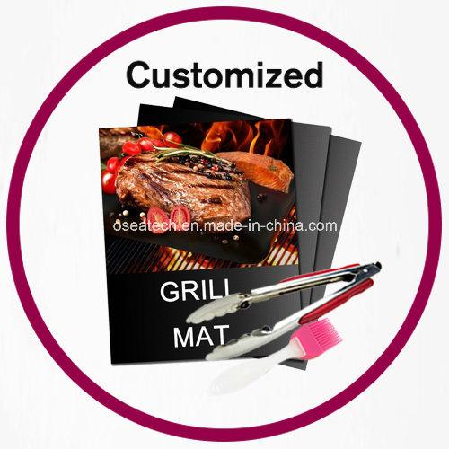 BBQ Grilling Mat Brush Tongs Set