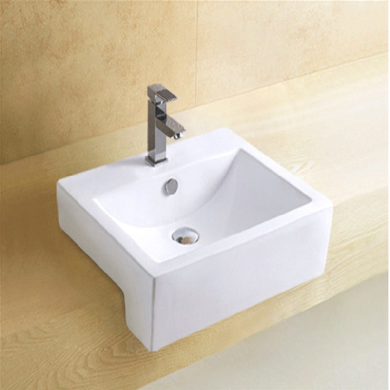 Bathroom Top Mounted Single Faucet Hole Ceramic Basin