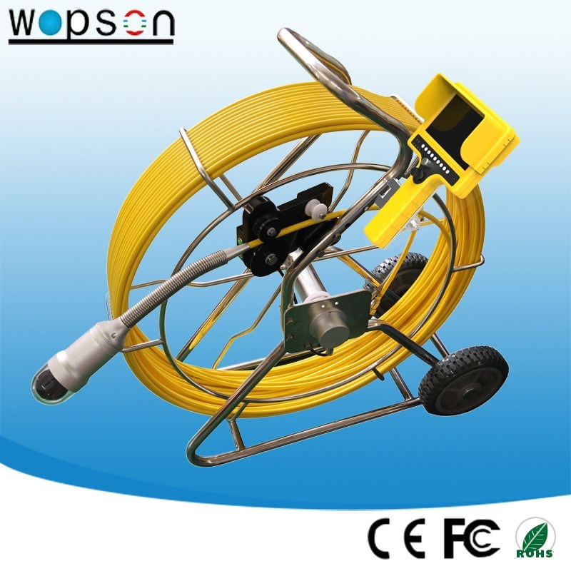 CCD 50mm Self Leveling Camera Sewer Drain Pipe Inspection
