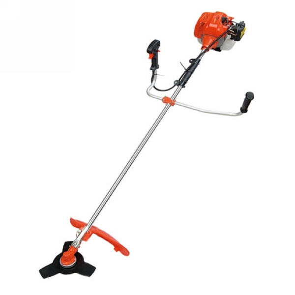 Chinese 2-Stroke 43cc Petrol Brush Cutter, Gasoline Grass Trimmer with Nylon Cutter and 3t Blade