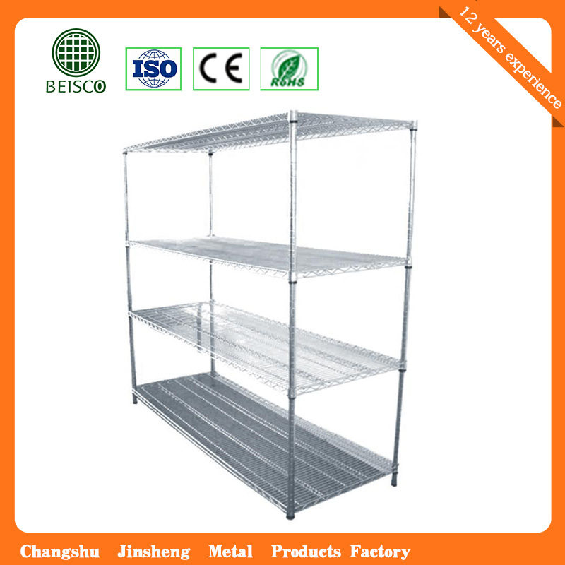 "4 Tiers 14""X36"" Chrome Plated Storage Wire Shelf"