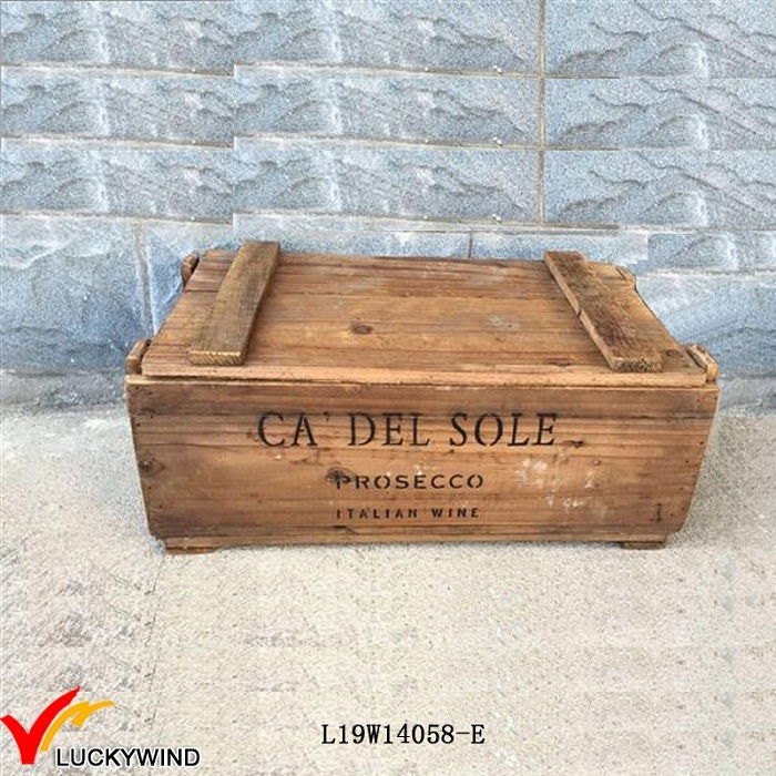 Reclaimed Handmade Storage Vintage Brown Wooden Chest Box