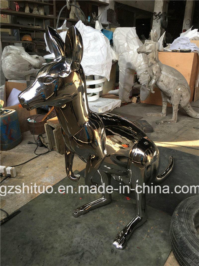 Stainless Steel Kangaroo, Outdoor Garden Stainless Steel Animal Art Ornament