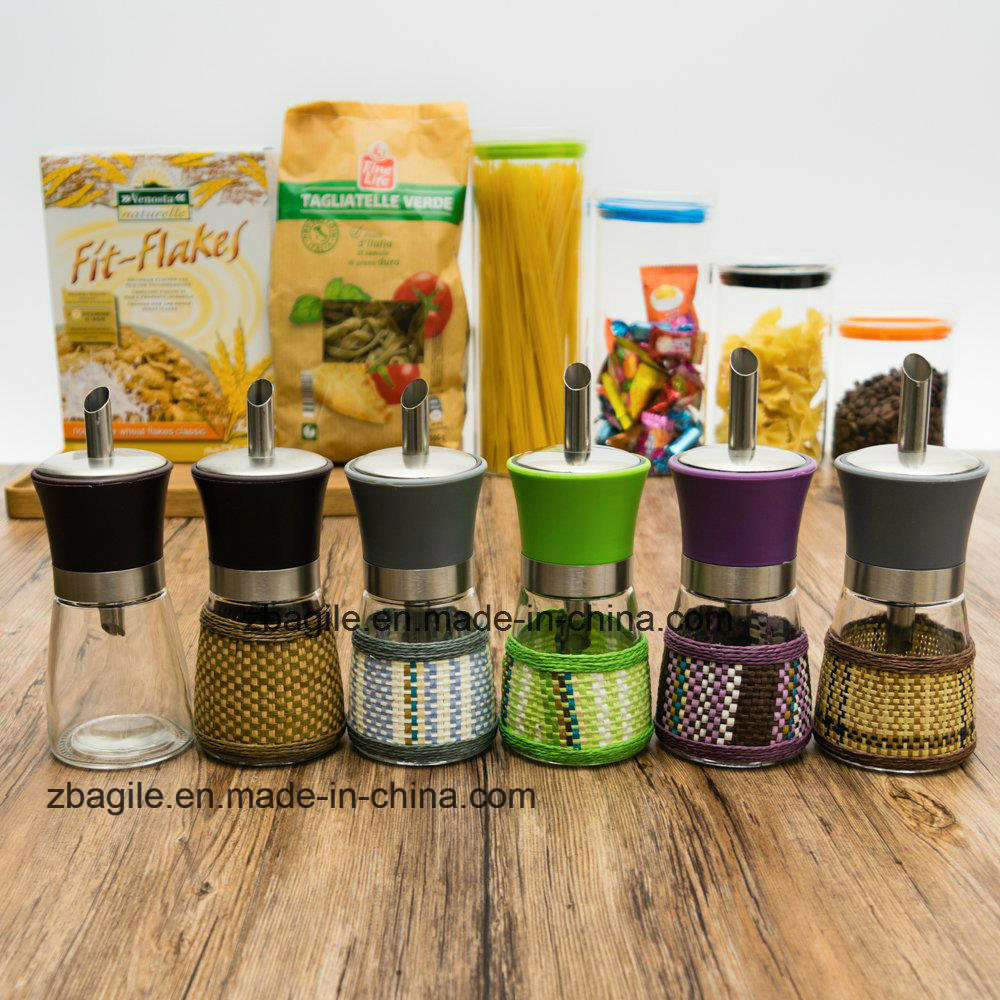 Factory Wholesale 5 Colorful Design Olive Oil Glass Bottle (100004)