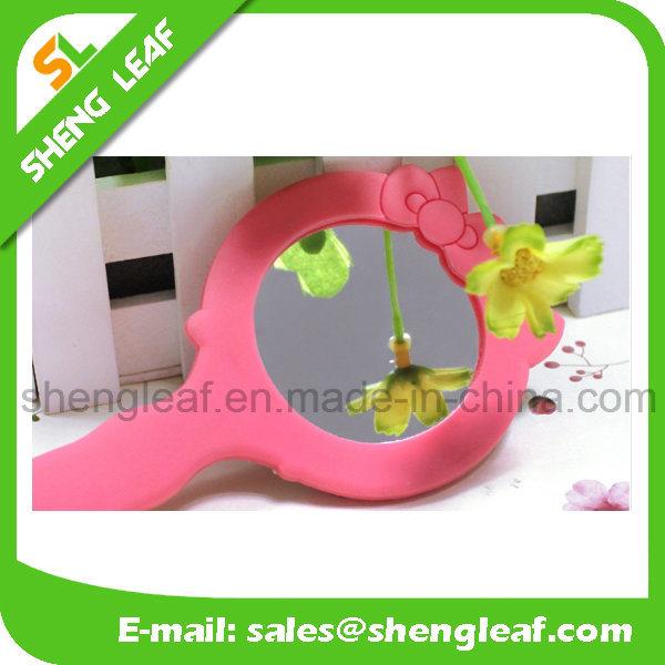 Rubber Decorative Mirror Pattern Lady Customized Logo