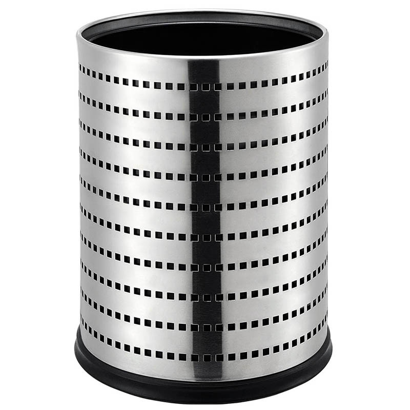 12L Double Layer Stainless Steel Waste Durable Dustbin