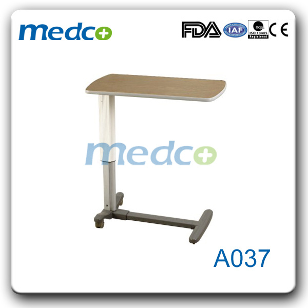 Height Adjustable Hospital Over Bed Table