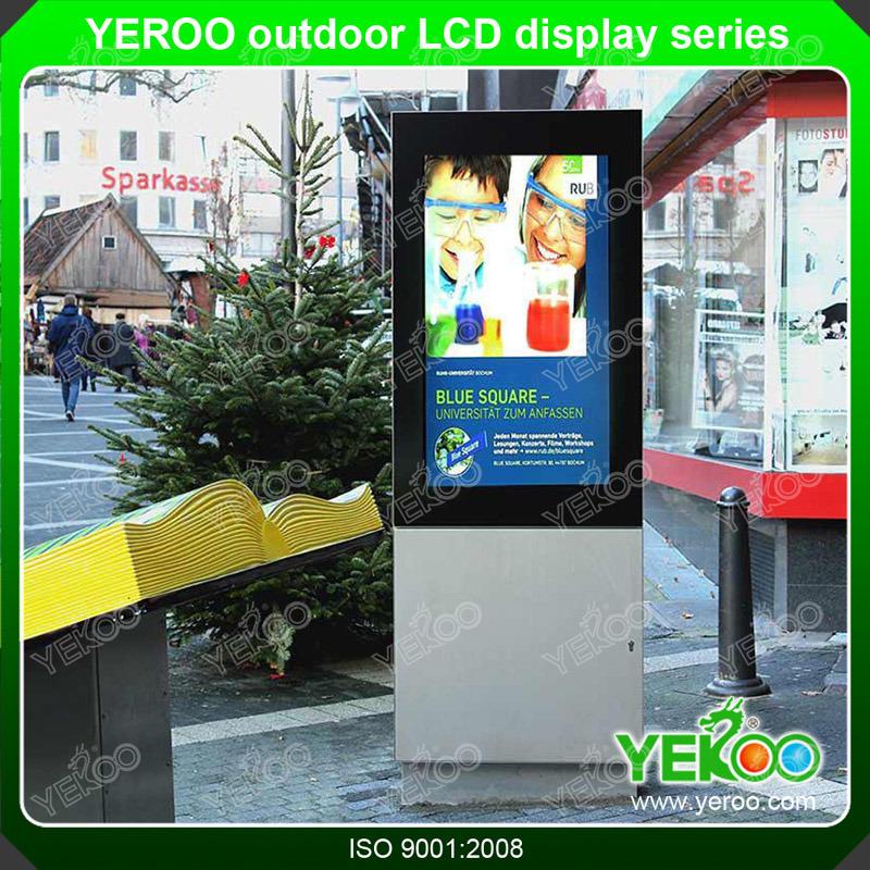 Outdoor Digital LCD Screen Kiosk Customized Advertising Totem