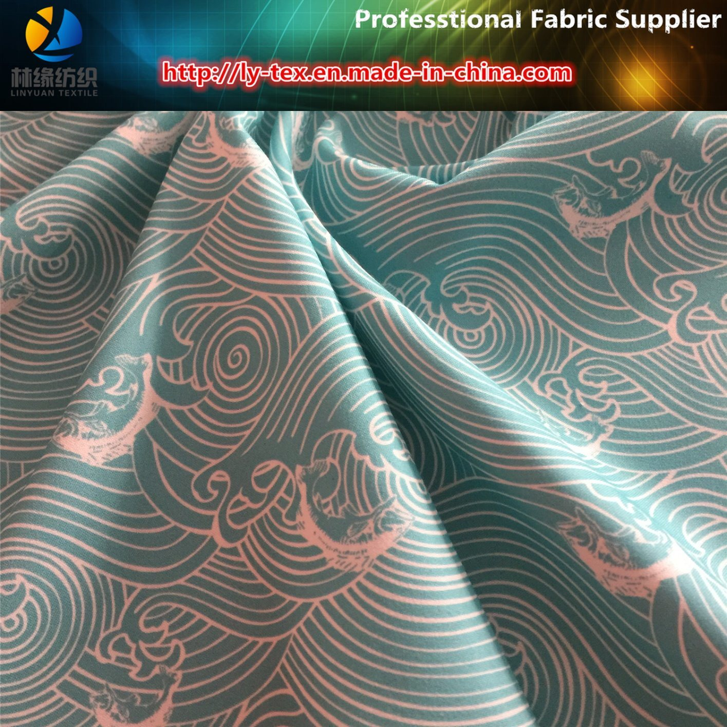 150d Polyester Twill Gabardine Printed Shirting Woven Fabric