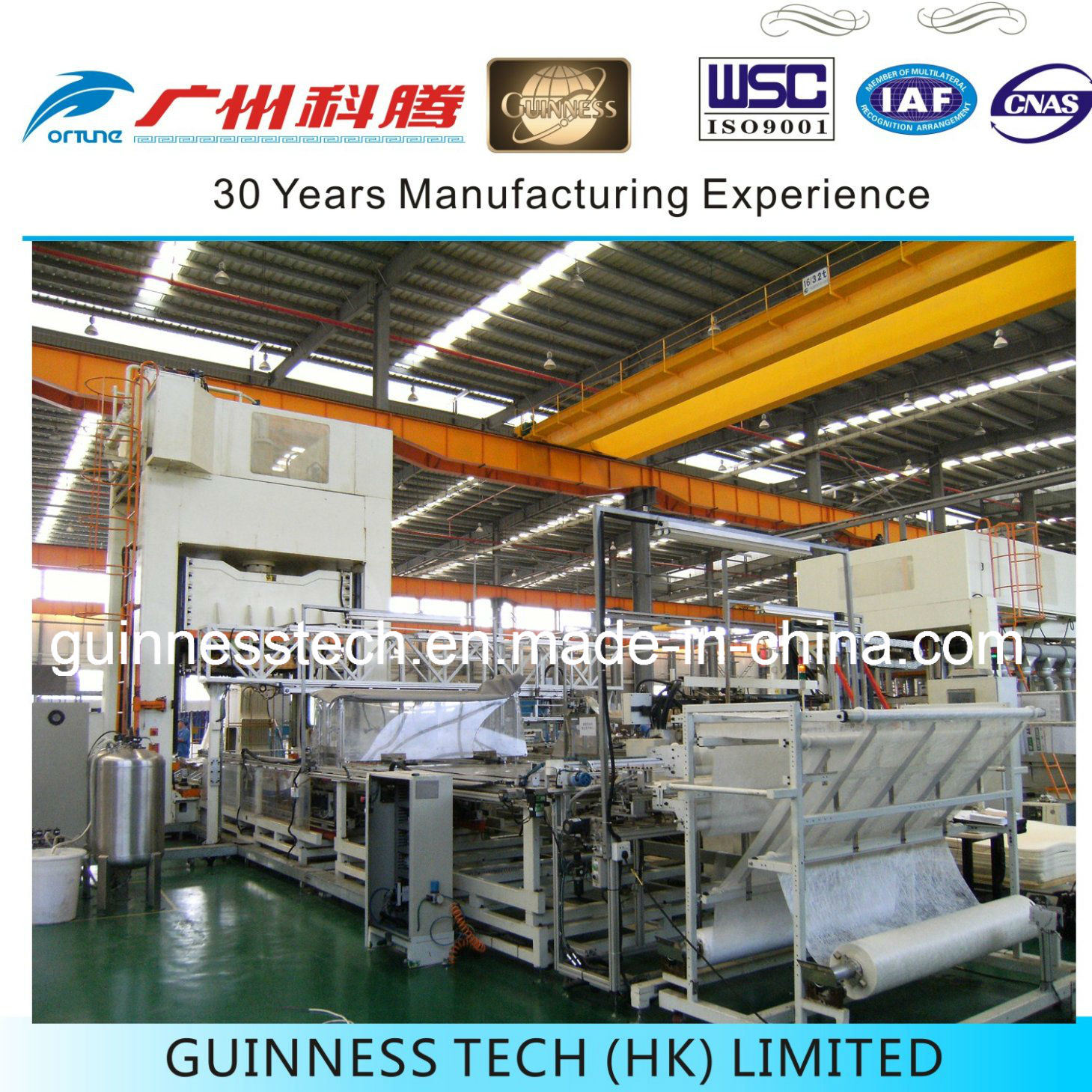 Automotive Headliner Wet System Production Equipment with Automation System