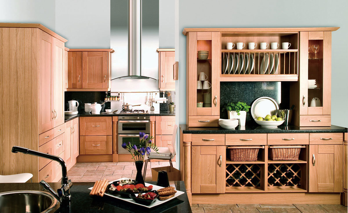 Hot-Selling Kitchen Cabinets Cream Solid Wood Series Kitchen Furniture